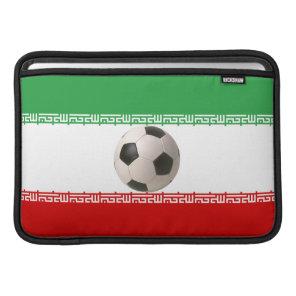 3D soccer ball with Iranian flag MacBook Air Sleeve