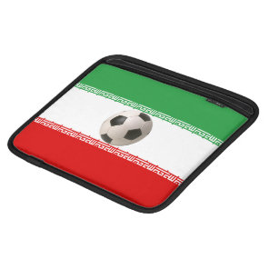 3D soccer ball with Iranian flag Sleeve For iPads