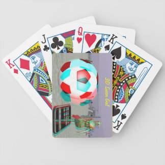 3D Soccer Girl  Cards Bicycle Playing Cards