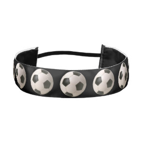 3D Soccerball Black White Football Athletic Headband