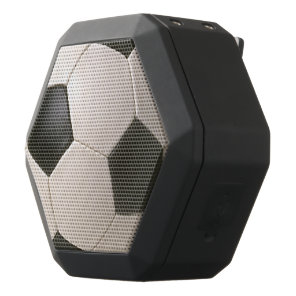 3D Soccerball Black White Football Black Bluetooth Speaker