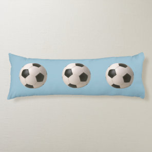 3D Soccerball Black White Football Body Pillow