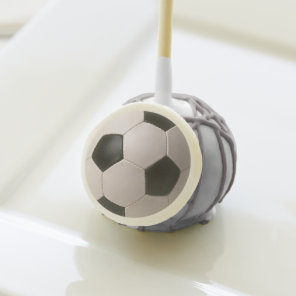 3D Soccerball Black White Football Cake Pops