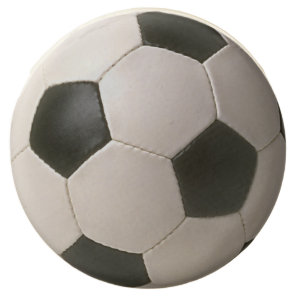 3D Soccerball Black White Football Chocolate Covered Oreo