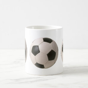 3D Soccerball Black White Football Coffee Mug