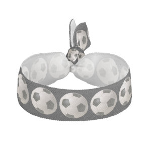3D Soccerball Black White Football Elastic Hair Tie
