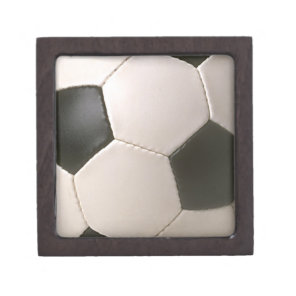 3D Soccerball Black White Football Gift Box
