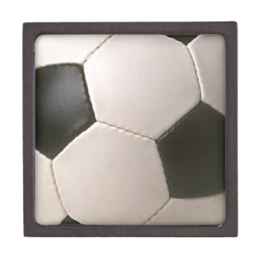 3D Soccerball Black White Football Jewelry Box