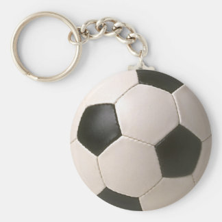 3D Soccerball Black White Football Keychain