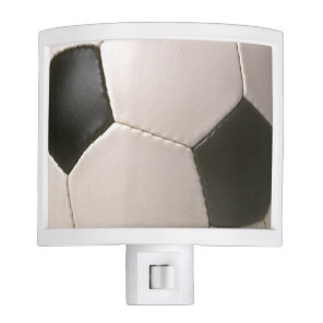 3D Soccerball Black White Football Night Light