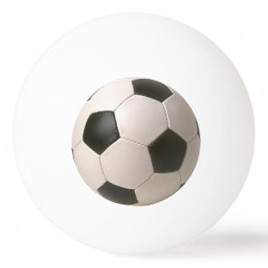 3D Soccerball Black White Football Ping Pong Ball