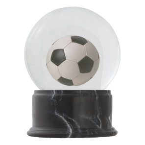3D Soccerball Black White Football Snow Globe