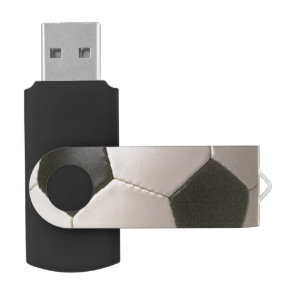 3D Soccerball Black White Football USB Flash Drive
