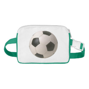 3D Soccerball Black White Football Waist Bag