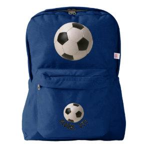3D Soccerball Sport Kick It Backpack