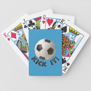 3D Soccerball Sport Kick It Bicycle Playing Cards