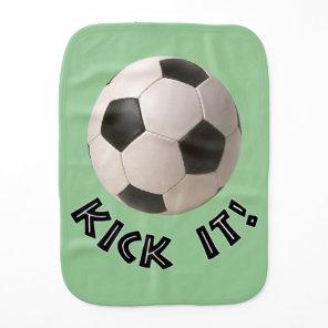 3D Soccerball Sport Kick It Burp Cloth
