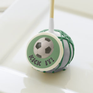 3D Soccerball Sport Kick It Cake Pops