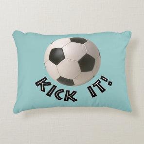 3D Soccerball Sport Kick It Decorative Pillow