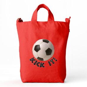 3D Soccerball Sport Kick It Duck Bag