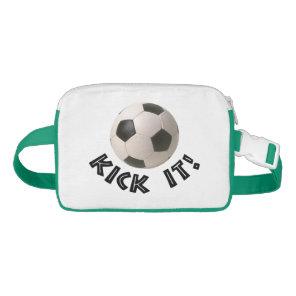 3D Soccerball Sport Kick It Fanny Pack