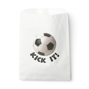 3D Soccerball Sport Kick It Favor Bag