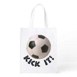 3D Soccerball Sport Kick It Grocery Bag