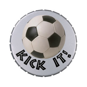 3D Soccerball Sport Kick It Jelly Belly Candy Tin