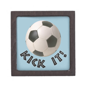 3D Soccerball Sport Kick It Jewelry Box