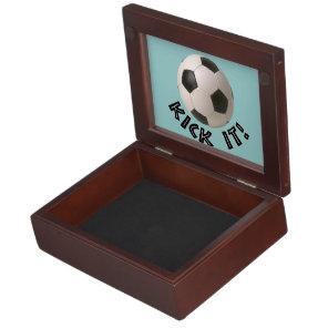 3D Soccerball Sport Kick It Keepsake Box