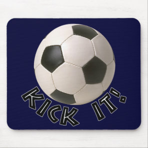3D Soccerball Sport Kick It Mouse Pad
