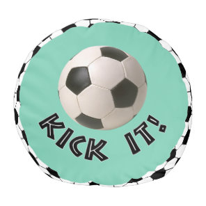 3D Soccerball Sport Kick It Pouf