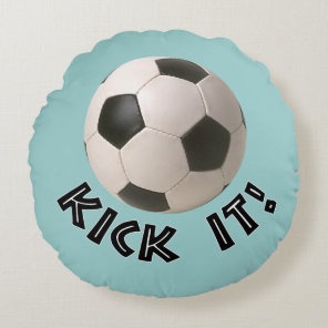 3D Soccerball Sport Kick It Round Pillow