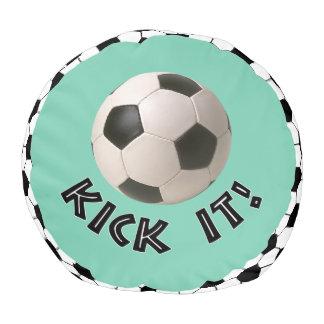 3D Soccerball Sport Kick It Round Pouf