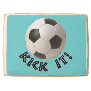 3D Soccerball Sport Kick It Shortbread Cookie
