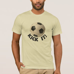 3D Soccerball Sport Kick It T-Shirt