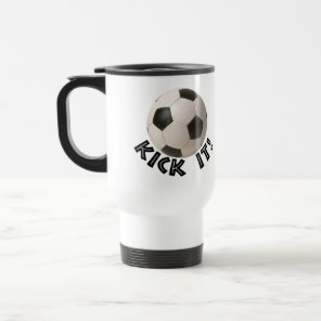 3D Soccerball Sport Kick It Travel Mug