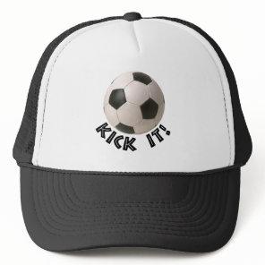 3D Soccerball Sport Kick It Trucker Hat