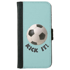 3D Soccerball Sport Kick It Wallet Phone Case For iPhone 6/6s