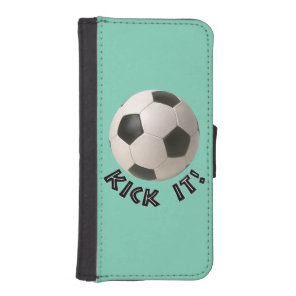 3D Soccerball Sport Kick It Wallet Phone Case For iPhone SE/5/5s