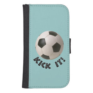 3D Soccerball Sport Kick It Wallet Phone Case For Samsung Galaxy S4