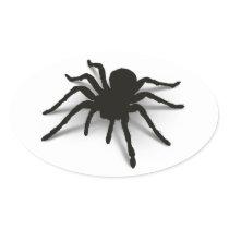 3D Spider Oval Sticker
