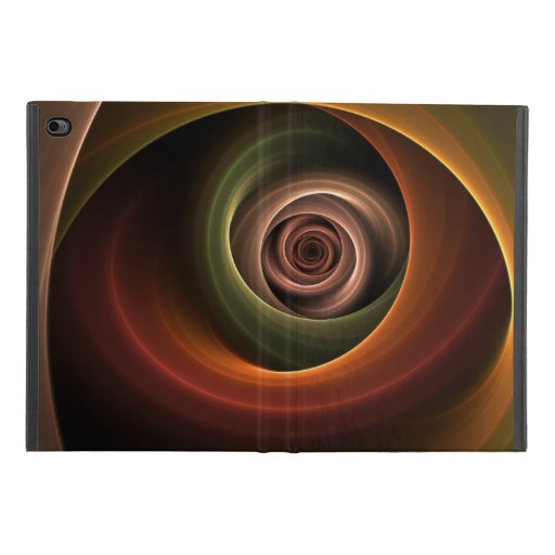3D Spiral Abstract Warm Colors Modern Fractal Art iPad Mini 4 Case