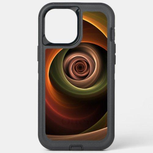 3D Spiral Abstract Warm Colors Modern Fractal Art Phone Case