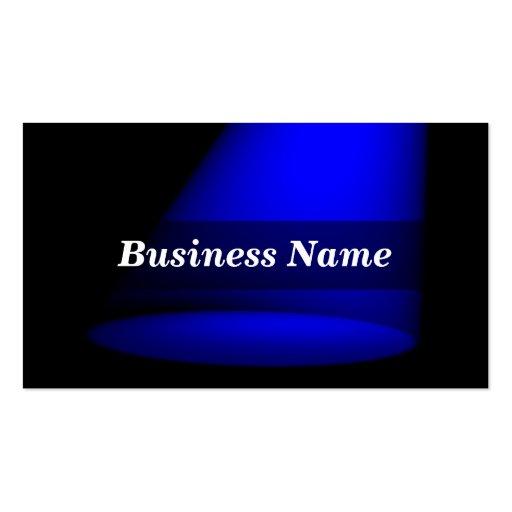 3D Spotlight (Blue) Business Cards