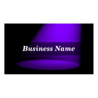 3D Spotlight (Purple) Business Card
