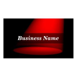 3D Spotlight (Red) Business Cards