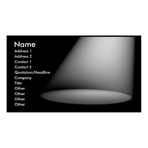 3D Spotlight (White) Business Cards