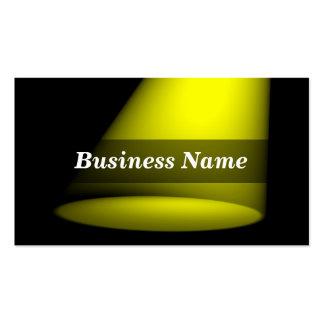3D Spotlight (Yellow) Business Card Template