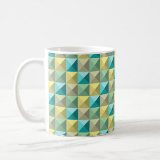 3D. Squared 3D turqueza and yellow Coffee Mug